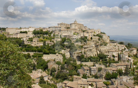 Gordes, Provence, France stock photo, Gordes is a typical village of the Provence build on a hill by Bonzami Emmanuelle