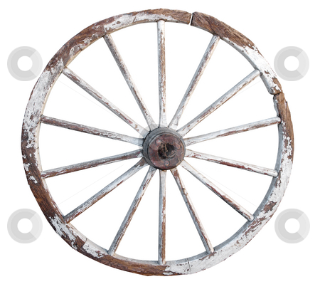 Old Wooden Whee stock photo, Old Wooden Wheel isolated with clipping path. by Margo Harrison