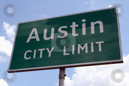 Austin City Limit stock photo, An Austin City Limit road sign close up. by Brandon Seidel