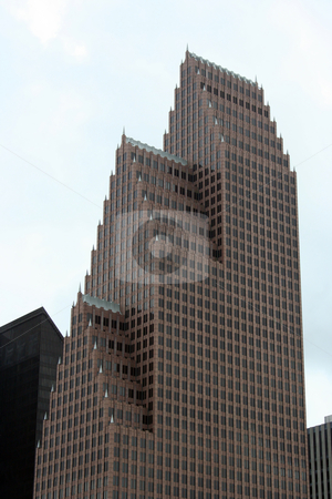 Houston Texas Skyline stock photo, A building in the Houston Texas Skyline. by Brandon Seidel