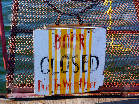 Dock Closed stock photo, A