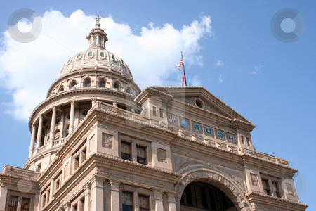 State Capitol Building in downtown Austin, Texas stock photo, A nice clean shot of the Texas State Capitol Building in downtown Austin, Texas. by Brandon Seidel