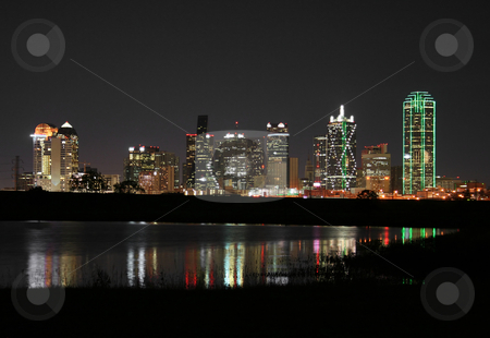 Downtown Dallas, Texas at Night stock photo, Downtown Dallas, Texas at night. by Brandon Seidel