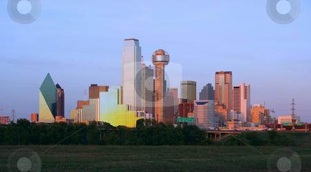 Downtown Dallas, Texas stock photo, Downtown Dallas, Texas at dusk. by Brandon Seidel