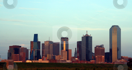 Downtown Dallas, Texas stock photo, A section of buildings in the Dallas Texas Skyline at dusk. by Brandon Seidel