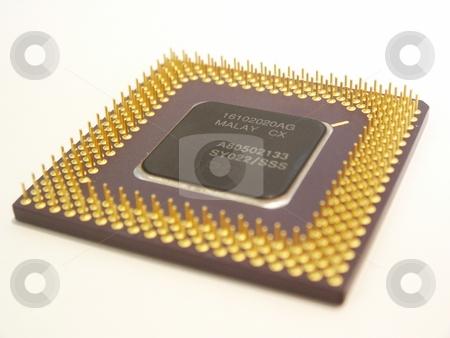 Computer Processor stock photo, Close up of a computer processor. by Brandon Seidel