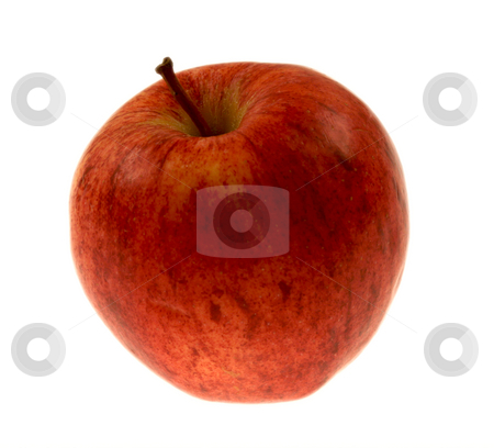Apples stock photo, Fresh appls up close isolated on white by Brandon Seidel