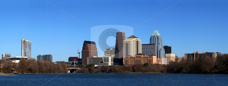 Downtown Austin Texas Cityscape stock photo, The downtown austin texas skyline on a clear sunny day. by Brandon Seidel