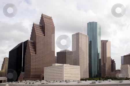 Houston Texas Skyline stock photo, A section of buildings in the Houston Texas Skyline. by Brandon Seidel