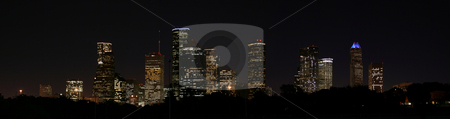 Downtown Houston, Texas at Night stock photo, A very pretty night in Houston, Texas. by Brandon Seidel