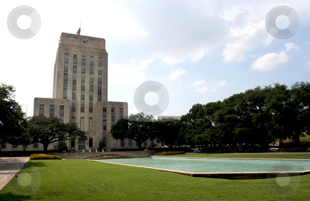 Houston Texas City Hall stock photo, A nice shot of City Hall in downtown Houston, Texas. by Brandon Seidel