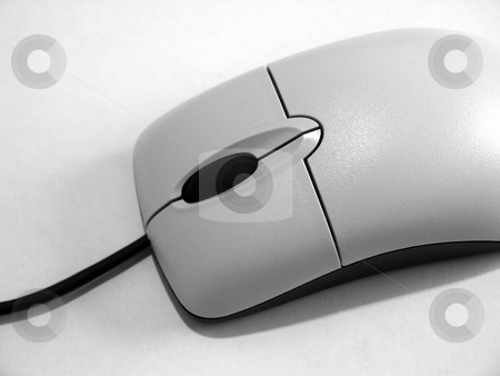 Black & White Mouse stock photo, A nice clean shot of a computer mouse. by Brandon Seidel