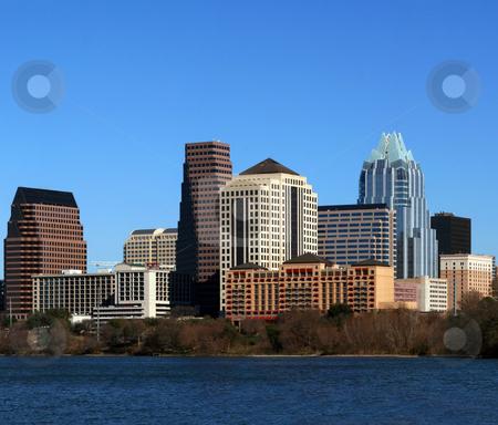 Downtown Austin Texas Cityscape stock photo, The downtown austin texas skyline on a clear sunny day. by Brandon Seidel