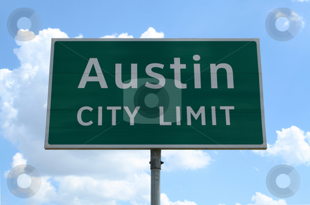 Austin City Limit stock photo, An Austin City Limit road sign close up. by Brandon Seidel