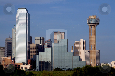 Dallas Texas Skyline stock photo, A section of buildings in the Dallas Texas Skyline. by Brandon Seidel