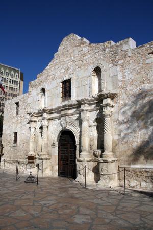 Alamo in Downtown San Antonio stock photo, The Alamo mission in downtown San Antonio, Texas. by Brandon Seidel
