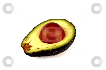 Avocados stock photo, Avocados isolated on a white background and sliced with the seed. by Brandon Seidel