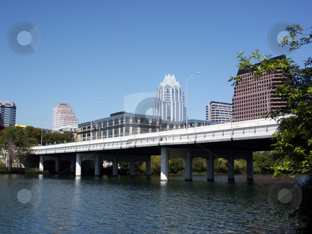 Downtown Austin, Texas stock photo, A nice clear shot of downtown Austin, Texas from across Town Lake bridge. by Brandon Seidel