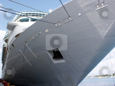 Cruise Ship stock photo, A cruise ship docked at port. by Brandon Seidel