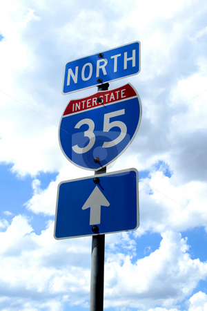 Highway 35 Road Sign stock photo, A highway 35 road sign in Texas. by Brandon Seidel