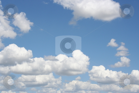 Cloudy Blue Sky stock photo, A bright summer day with nice clouds above by Brandon Seidel