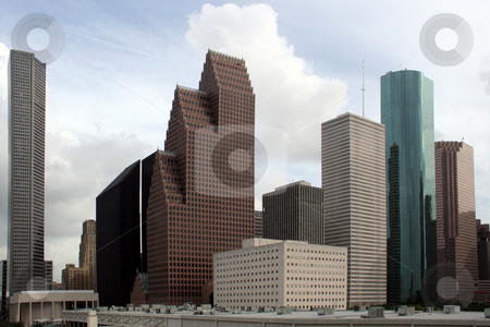 Houston Texas Skyline stock photo, A section of buildings in the Houston Texas Skyline. by Brandon Seidel