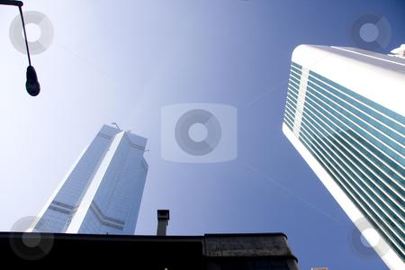 Office buildings stock photo, Office buildings in Hong kong by Ingvar Bjork