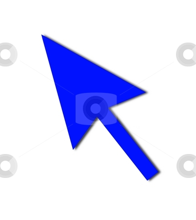 Cursor Arrow Mouse Blue stock photo, Cursor Arrow for the use with mouse or other pointer. by Henrik Lehnerer