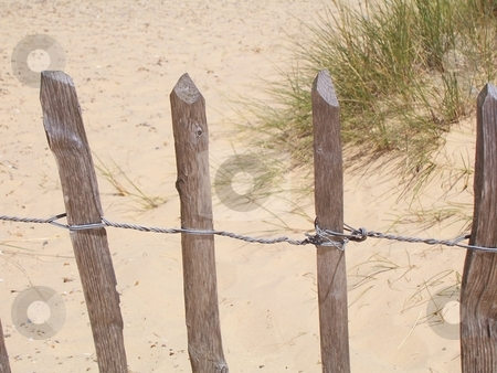 Beach Fence stock photo,  by Jack Richardson