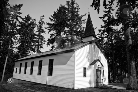Church stock photo, An old church in Port Townsend Washington. by Travis Manley