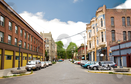 Port Townsend  stock photo, Buildings in downtown Port Townsend, Washington. by Travis Manley