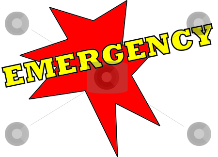 Emergency stock vector clipart,