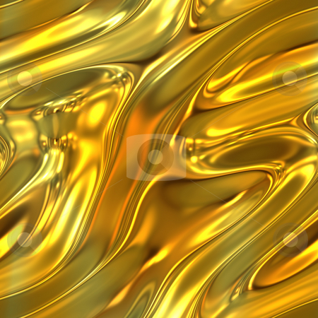 Molten Gold Texture stock photo, A molten gold liquid texture that tiles seamlessly. by Todd Arena