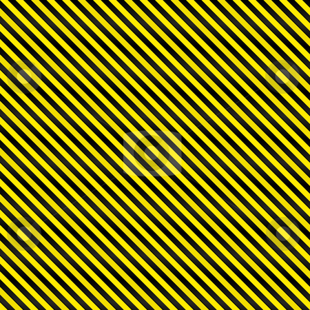 Tight Seamless Hazard Stripes stock photo, A tightly woven yellow and black stripes texture that works as a seamless pattern in any direction.  Great for both print and web designs. by Todd Arena