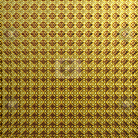Antique Floral Pattern stock photo, A vintage floral wallpaper pattern that works great as a background. by Todd Arena