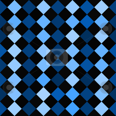 Checkered Pattern stock photo, A blue and black checkered squares texture that tiles seamlessly. by Todd Arena