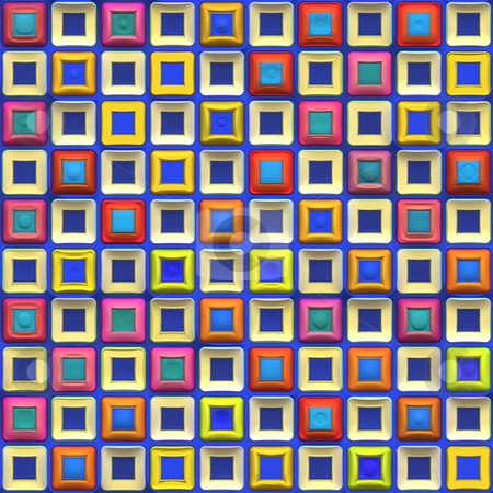 Colorful Squares Pattern stock photo, A rainbow colored checkered squares texture that tiles seamlessly. by Todd Arena