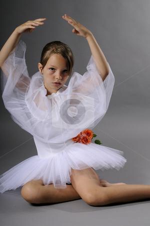 Elegant ballerina stock photo, Elegant ballerina smiling by Dragos Iliescu