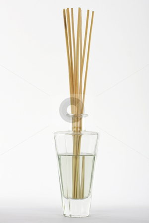 Fragrance reed diffuser stock photo, Fragrance reed diffuser on white background by Chris Roselli
