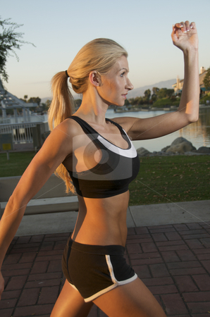 Woman Jogging stock photo,  by Timothy OLeary