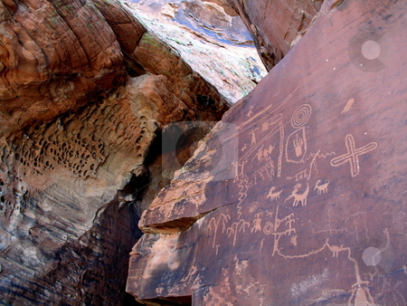 Petroglyphs stock photo,  by Ryan Dandy