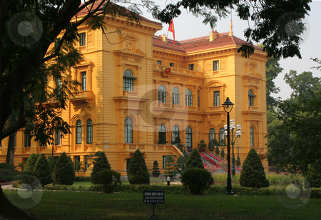 President Palace Hanoi Vietnam stock photo, President's Yellow Palace Hanoi Vietnam by William Perry