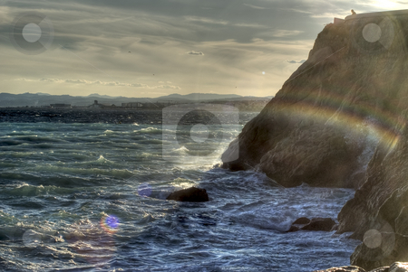 Stormy weather stock photo, Stormy weather on the Mediterranean sea by Serge VILLA