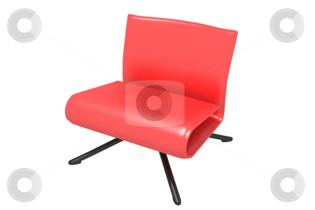 Red chair stock photo, Red chair on a white background. isolated by Aleksandr GAvrilov