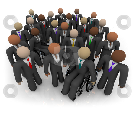 Diverse Group of Business People stock photo, A group of men and women of various races and physical ability by Chris Lamphear