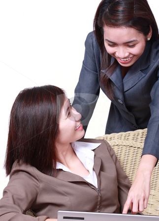 Business partner stock photo, Happy business  colleagues discussing business ideas by Claro Alindogan