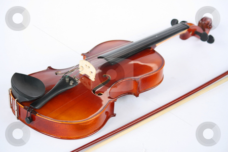 Violin stock photo, A violin isolated on a white background by Claro Alindogan