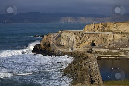 Point Lobos Seal Rocks San Francisco California stock photo, Point Lobos Seal Rocks Entrance to Harbor San Francisco California by William Perry