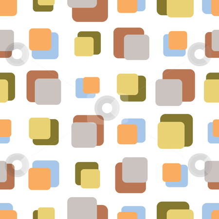 Seamless Retro Background stock vector clipart, Vector illustration of a seamless retro pattern by Inge Schepers