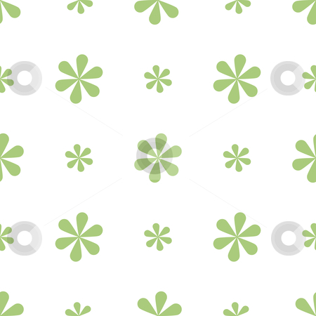Seamless Floral Background stock vector clipart, Vector illustration of a seamless green floral background by Inge Schepers